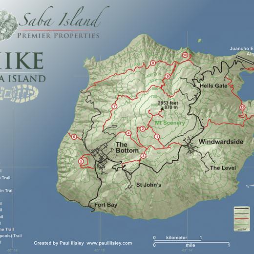 Saba Hiking Trails