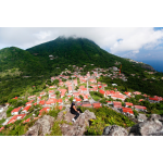 Glenn Holm, Director of Tourism of Saba Island, overlooking the valley where Grace Cottage is located - Saba Island Premier Properties