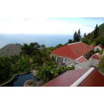 Hummingbird Villa from the air - Saba Island Premier Properties